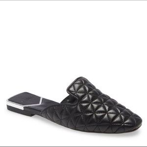 NWOT Schutz Adra Quilted Leather Flat Mules